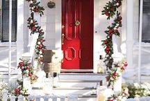 Christmas porch and doors