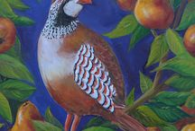Partridge in a Pear Tree - Original Paintings on Etsy