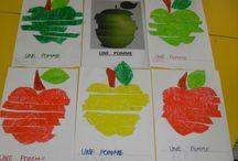 Les pommes en maternelle