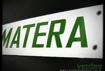 Verdes / letreros enlozados verdes... para siempe