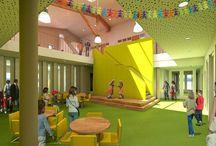 Renovatie inspiratie / We gaan er wat moois van maken! Een plek waar kinderen, leerkrachten en ouders zich prettig voelen. Waar denk je aan bij het verbouwen en opnieuw inrichten van onze school: sfeerimpressies, kleuren, materialen, scholen of gebouwen die je inspireren, architectuur, verdeling van ruimte, onderwijsconcepten enz.