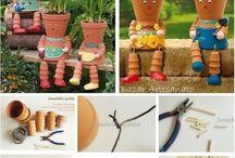 Vasos de Bonecos para Plantas