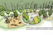 słoneczna polanka / projekt ogrodu dla osób starszych/niepełnosprawnych