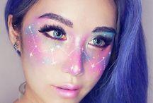 funky makeup