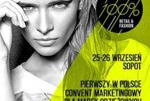 100% retail & fashion /  100% retail & fashion to pierwsze takie wydarzenie dedykowane branży odzieżowej, obuwniczej i bieliźnianej w Polsce. Poruszane tematy będą dotyczyć całego spektrum zarządzania marką fashion.  Sopot, 25-26 września 2014 roku. Więcej na stronie www.retailandfashion.pl.