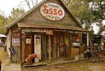 Old gas station, Garage home idea