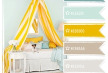 Nursery Colors / The walls have to be white, but it'll be the middle of winter when baby comes, so adding bright colors would probably be nice. / by Holly Gerardi
