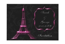 Paris themed Wedding Invitations / Lovely Paris wedding invitations,Paris save the date, Paris stationery, #Paris #Pariswedding #weddings #invitations #savethedate