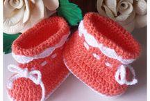 Botinhas / Pink Crochê