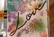 Love mix media / Prova ny teknik, nyfiken det bara kontakta mig på www.facebook.com/vandanalreation