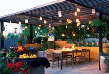 Let's go outside / Beautiful outdoor spaces. Deck, patio, al fresco dining, pool, garden, shelter.