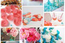 Teal & Coral Weddings