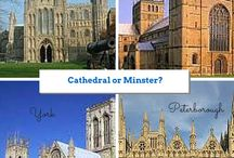Cathedral or Minster? / Ely Cathedral. Peterborough Cathedral. Southwell Minster. York Minster.