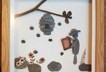 Καμβάς με πέτρες