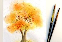 How to paint watercolor art