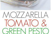mozza n tomatoe green pesto chicken breast