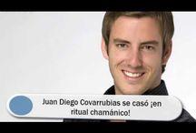 Juan Diego Covarrubias se casó ¡en ritual chamánico!