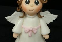Angel cake toppers