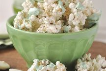 Food~Snack Mixes & Popcorn / Many fun and varied recipes for all varieties of sweet & savory snack mixes and  popcorn. / by Pauline Zinie