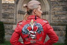 Hand-Painted Custom Jackets by ME / Custom Leather Jackets, Biker Jackets, Hand-Painted, Hand-Crafted