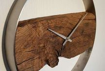 3D clock drift wood