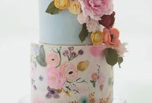 Wedding cakes, Watercolors