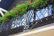 Balustrada kuta na balkon