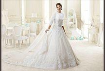 Modest Wedding Dresses / I love modest wedding dresses! / by Brittany Elkins