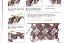knitting stitches (entrelac)