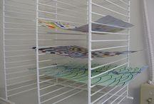 Artist's drying racks
