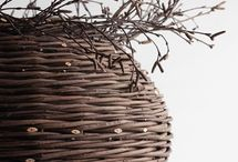 wicker baskets and other