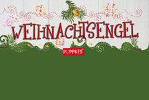Weihnachtsengel / ★ Alle Jahre wieder ★ Die süßen Engel von Püppkes verbreiten gute Weihnachts-Laune ★ Zum Verschenken, Dekorieren, als kleine Aufmerksamkeit für die Familie, Freunde und Menschen, denen man einfach eine kleine Freude machen möchte ★ handmade aus Holz und Filz ★