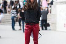 RED JEANS - czerwone jeansy