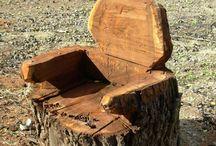 drewniany fotel