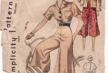 Vintage tøj 1930 ca