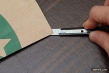 transformer un sac starbucks en portefeuille