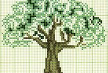 alberi ricamati