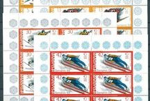 Skiing Stamps / Stamps with topic Skiing