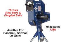 Baseball Pitching Machine / The BATA-1 Baseball Pitching Machine is the BATA's classic fastball pitching machine. Will throws fastball after fastball with pinpoint accuracy and consistency at speeds up to 60+ MPH. From 46 feet (instead of 60 feet), that seems like 80+ MPH! Constructed with BATA's high-quality solid-state components, Goodyear Rubber Soft Tread pitch wheel, and heavy-duty solid steel stand, the BATA-1 is built to last for years. If you like this you can purchase at woodbats4sale.com