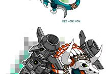 Digimon / Artwork of both real and fan-made digimon