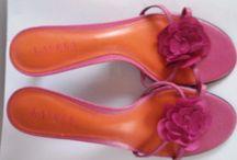 Ralph Lauren pink teal leather sj