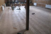 Sanding At A European Conference Centre / Client: Business In Central London. Brief: To supply & install wood floor.