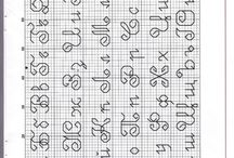 alfabeto a punto scritto