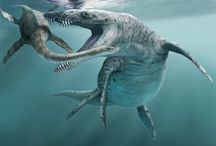 Marine & Flying reptiles living in the same era when dinosaurs lived
