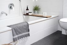 P+P Bathroom Decor Inspiration / We love showing you some inspiration on how to decorate your home with P+P. These lifestyles are what inspires us and our products and we hope to inspire you as well!