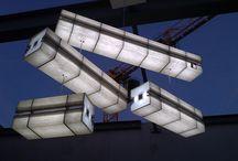 """Lampe // LIN-GO // by Collectif 7iD / De conception très aérienne, ce luminaire n'est pourtant pas sans évoquer le milieu """"industriel"""" et ses structures rectilignes. Seulement en apparences, car les matériaux utilisés sont des plus chaleureux."""