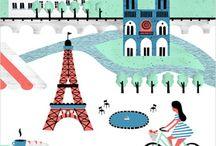 Illustration Paris rétro