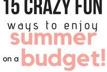 Summer on a Budget / cheap summer fun, free summer fun, inexpensive summer activities, summer fun for kids, family summer activities