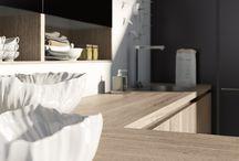 Лаконичные кухни / концептуальный дизайн кухонь