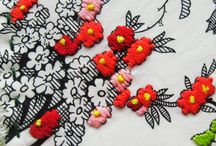 fabric prints and embroideries
